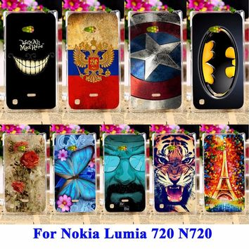 AKABEILA Durable Mobile Phone Shell For Nokia Lumia 720 Cases N720 N720T Hood Skin Back Lumia 720 Cover Anti-Scratch Shield Case