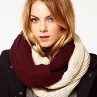 French Connection Block Colour Snood at asos.com
