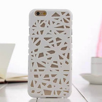 Gray Candy Color Hollow Out Bird's Nest Phone Back Cover Case Shell For iPhone 4s 5 5s SE 6 6s