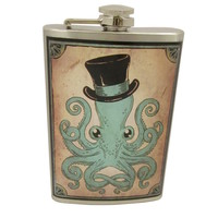 Handmade Flask, Octopus Gentleman
