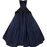 Royal Blue Tafetta Gown by Zac Posen - Moda Operandi
