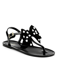 Heart Bow Jelly T-Strap Sandals