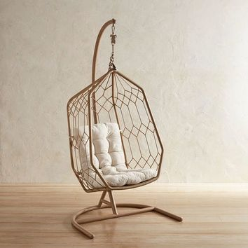 Swingasan® Light Brown Hexagon Hanging Chair