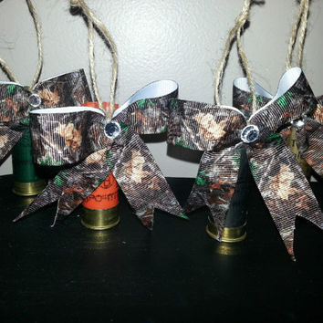 Shot gun shell and camo ornaments! Perfect guy and gal gifts!