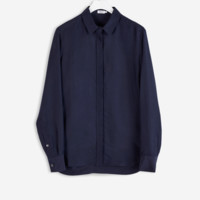 Silk Shirt Navy - Blouses - Shop Woman - Filippa K