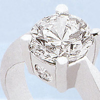 0.89 ct DIAMOND ENGAGEMENT RING SOLITAIRE THREE STONE