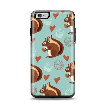 The Vector Love & Nuts Squirrel Apple iPhone 6 Plus Otterbox Symmetry Case Skin Set