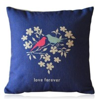 ZLP Love Forever Cotton and Linen Pillow With Pillow Insert