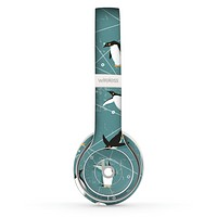 The Vintage Penguin Blue Collage Skin Set for the Beats by Dre Solo 2 Wireless Headphones