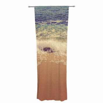 "Violet Hudson ""Crashing Waves"" Beach Coastal Decorative Sheer Curtain"