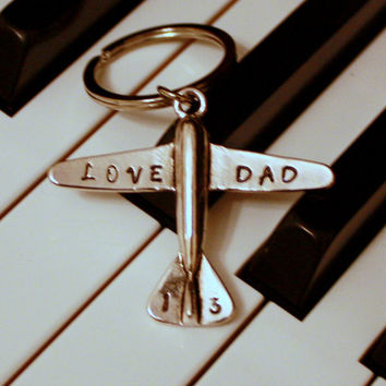 Love Dad Airplane key chain Fly to Love One by CrossEarth on Etsy