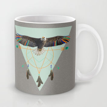 The indian eagle is watching over Po's dreamcatcher Mug by AmDuf
