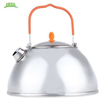 BRS - TS07 1.1L Stainless Steel  Outdoor Tableware Portable Outdoor Coffee Pot Water Kettle Teapot for Camping Hiking Utility