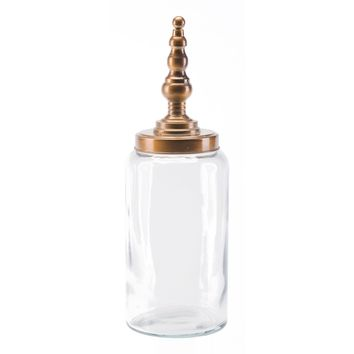 Brass Tower Jar, Large