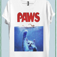 PAWS CAT WOMEN T-SHIRT code20448