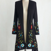 Boho Long Sleeve Bloom Service Delivery Cardigan