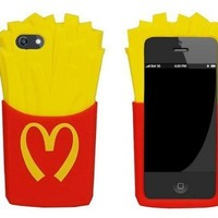 LliVEER 3d Lovely Soft Silicone Skin Case Cover Shell Protector for Iphone 6 4.7'' French Fries