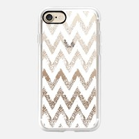 white sparkly chevron iPhone 7 Carcasa by Marianna | Casetify