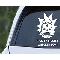 Rick and Morty - Riggity Riggity Wrecked Son Die Cut Vinyl Decal Sticker