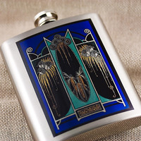 Stainless Steel Flask with Stunning Art by DecorativeDesignWKS