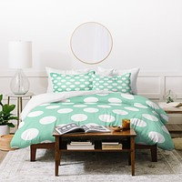 Allyson Johnson Mintiest Polka Dots Duvet Cover