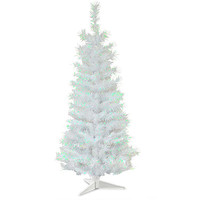 National Tree Company 3Ft Unlit White Iridescent Tinsel Tree - Seasonal - Christmas - Trees