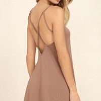 Hello Beautiful Blush Swing Dress