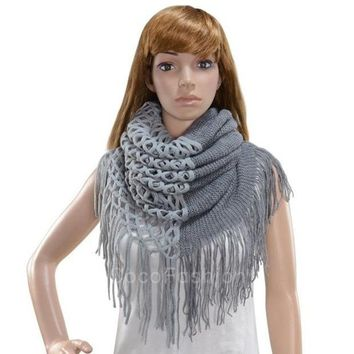 PEAPIX3 Fashion Women's Winter Warm Knitting Scarf Infinity Tassels Scarf CFC = 1946440772