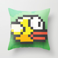 Flappy bird Throw Pillow by Max Jones