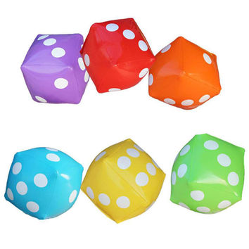Inflatable Multi Color Dice Inflated PVC Sieve Hot Toys Stage Props Children Birthday Party Favors Kids Outdoor Game Play Tools
