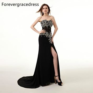 Forevergracedress Real Picture Prom Dress New Style Mermaid Sweetheart Beaded Crystals Split Long Formal Party Gown Plus Size