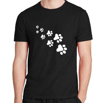 cat paws print men women t shirt Cotton Casual Funny t shirt hipster streetwear Top Tee 2017 summer new fashion brand clothing