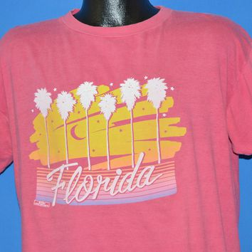 80s Florida Palm Trees Tourist t-shirt Extra Large