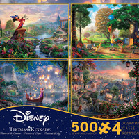 disney kinkade lady and the tramp 4 in 1 multipack 500 pcs puzzle new with box