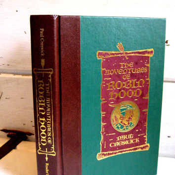 The Adventures of Robin Hood vintage book, Paul Creswick, Reader's Digest with illustrations