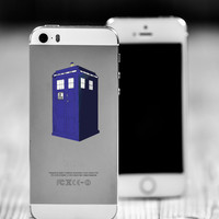 "Tardis Die Cut Sticker // Doctor Who BBC Nerd Pride // Cell Phone & Tablet Small Size // 2"" // Perfect For Indoor, Outdoor, Laptop, Car"
