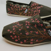 Cherry Blossom Tree Custom TOMS by KellismCo on Etsy
