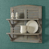 Double Shutter Shelf - Aged Gray