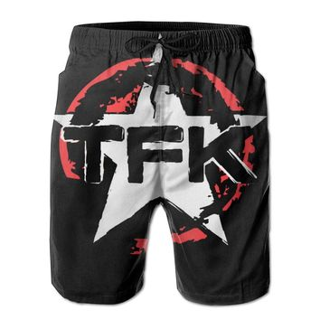 Rock Band Thousand Foot Krutch Symbol Mens Fashion Casual Beach Shorts