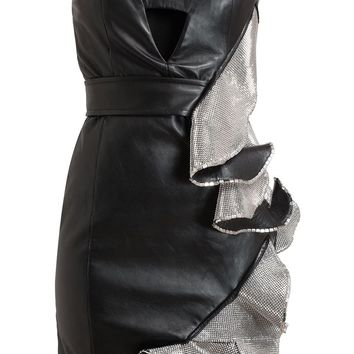 Anthony Vaccarello ruffled mini dress