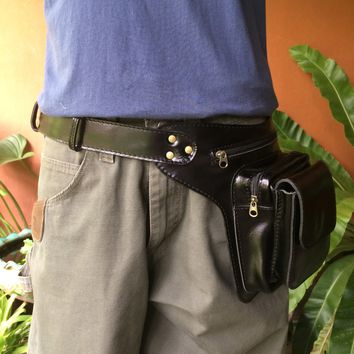 Leather Belt Bag | Pocket Belt | Hip Pouch - Tech | Travel