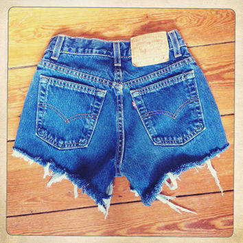 High Waisted Levi Short Hipster Shorts Size 27 by Hextress on Etsy