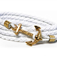 Anchor Bracelet - White Coral Beach - by Kiel James Patrick