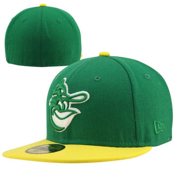 New Era Baltimore Orioles Cooperstown Collection 59FIFTY Fitted Hat - Green/Gold