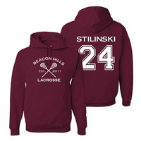 Stiles Stilinski 24 Teen Wolf Beacon Hills Inspired Lacrosse Adult Fashion Hoodie Apparel