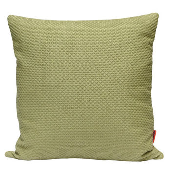 Couch Pillow 18x18 cushion cover in seafoam green made from vintage upholstery fabrics by EllaOsix