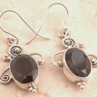 Chocolate Quartz Earrings