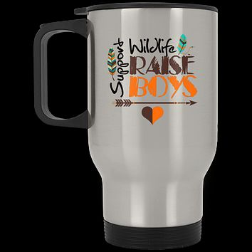 Mother of Boys Mom Gifts Stainless Travel Mug