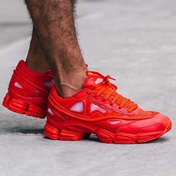 hcxx Raf Simons x Adidas Consortium Ozweego S74584 Red Women Men Casual Trending Running Sneakers