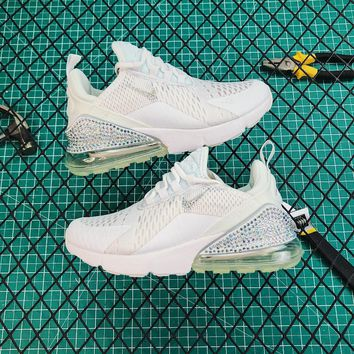Nike Air Max 270 White Diamond Running Shoes - Best Online Sale